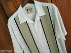 Mens Vintage Silk Camp Shirt Big & Tall Retro Bowling Panel 50s 2XL 3XL 4XL 5XL