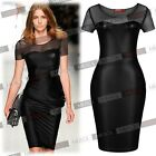 Womenns Celeb Style Mesh Evening Cocktail Party Pencil Bodycon Dresse