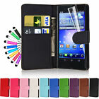 Flip Wallet Leather Case Cover For Sony Xperia Z L36H With Free Screen Protector