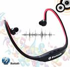 #2 Wireless Bluetooth HandFree Back Stereo Headset headphone for Samsung iPhone