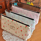 Lovely Flower Canvas floral pencil case/Girls' makeup Bag BLUE/PINK