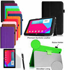 For LG G Pad 10.1 inch Tablet Folio Stand Leather Smart Wake Case Cover/Film/Pen