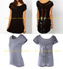 Fashion Summer Sexy Women Blouse Loose Short Sleeve Casual Hollow Top T-Shirt