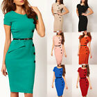 Womens Business Pencil Bodycon Formal Evening Cocktail Party Dresses