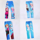 Girl's Disney Frozen Anna and Elsa Skinny Leggings Tights Pants Trousers 3-9Y