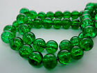 8mm 8/16/32 inches strand GREEN TRANSPARENT GLASS ROUND BEADS GB4830