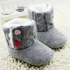 Baby boots girl gray Snow winter Soft bottom Shoes 0-6 6-12 12-18 Months