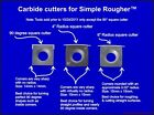 Replacement Carbide Cutter for Simple Rougher 14MM Square Insert Simple Tools