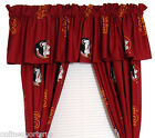 """Florida State Seminoles Valance & Curtain Set  84"""" or 63"""" College Covers"""
