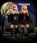 6494 Dreamgirl adult polyester costumes black Bat, Vampire reversible costume