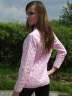 Brand New Ladies Pink Classic Fitted Quilted Jacket Sizes 6 8 10 12 14 16 18