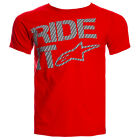 Alpinestars Genuine Ride It Tech T Shirt Red MX Supercross Racing