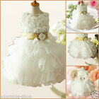 B999 Beige Christmas Wedding Party Flower Girls Dresses SIZE 2-3-4-5-6-7-8-10-12
