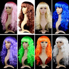 NA53 Halloween Christmas Masquerade Dress Large Colored Wavy Wig Catwalk COS