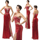 ❤Stunning❤Glitter Sequins Mermaid Evening Gown Formal Party Bridal Wedding Dress