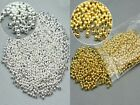1000x Round Metal Ball Spacer Beads 3MM DIY Making Jewelry Findings