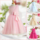 Pinks Christening X'mas Wedding Princess Flowers Girls Dresses SIZE AGE 2 to 12Y