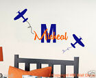 Airplanes & FREE Personalised Name Removable wall sticker for KIDS or NURSERY