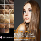 Full Head Clip in Set Remy Real 100% Human Hair Extension hair UK Seller