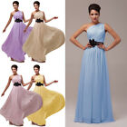 ❤PROMOTION❤ LONG One Shoulder Evening Prom Party Gowns Bridesmaid Cocktail Dress