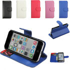 Magnetic Flip Leather Pouch Wallet Purse ID Card Case Cover Stand For iPhone 5c