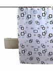 Waterproof Bath Shower Polyester Curtain With Hooks  Antibacterial More Sizes