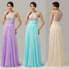 Long Beaded Wedding Bridesmaid Prom Dresses Evening Homecoming party Ball Gown