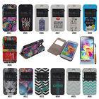 PU Leather S-View Window Stand Flip Case Cover Skin For Samsung Galaxy S5 i9600