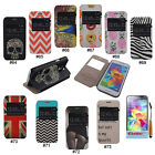 S-View Window PU Leather Stand Flip Case Cover Skin For Samsung Galaxy S5 i9600