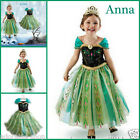 Anna Elsa Cosplay School Birthday Party Dress Princess Costume AGE 3 4 5 6 7 8Y