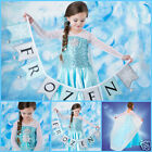 Princess Elsa Anna Queen Costume School Birthday Party Dresses SIZE 3 4 5 6 7 8Y