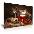 COFFEE GRINDER COFFEE BEANS Canvas Framed Print Cafe Deco - More Size