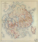 1944 GOVERNMENT TOPO MAP ACADIA NATIONAL PARK MAINE VINTAGE