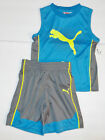 Puma Toddler Boys 2 Piece Shorts Outfit with Sleeveless Shirt Size 2T NWT