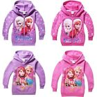 Girls Kids Frozen Elsa Anna Winter Warm Fleece Hooded Coat Jackets Snowsuit 4-8Y