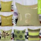 Decor Throw Pillow Case Pillowslip Sofa Seat Back Cushion Cover Square Green