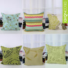 Green Throw Pillow Case Pillowslip Sofa Seat Cushion Cover Square Pillow Covver