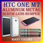 ALUMINUM BUMPER METAL CASE COVER SCREWLESS FRAME for LATEST HTC ONE M7 MOBILE