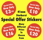 Bright Red 41mm Special Offer Starburst Price Stickers - Point Of Sale Labels