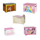 Children's Boys & Girls MDF Wooden Character Toy Boxes, Cars, Princess, Thomas