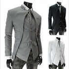 HOT Stylish Men's Casual Unique Design Slim Fit Jacket Blazer Coat 4 Size AU JR