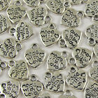 TIBETAN SILVER 'Made With Love' HEART CHARMS Lots of 50/ 100/ 250/ 500/ 1000