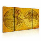 MAP 13 3B Canvas Framed Printed Wall Art ~ 3 Panels ~ More Size