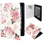"""Pretty Flowers PU Leather Flip Case Cover Skin For 6"""" Amazon Kindle Paperwhite"""