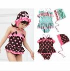 Girls Swimwear Bikini Swimsuit Dot 1-6Y Toddler Bathing Tankini Bikini Beachwear