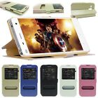 New Front View Leather Magnetic Case Cover Stand For Apple iPhone Samsung Galaxy