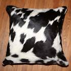 New Cowhide Pillow Cover Hair On Leather Patchwork Cushion Cow Hide Western P12
