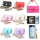 Luxury Diamond PU Leather Flip Wallet Card Holder Case Cover Skin For iPhone 5C