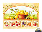 Tuftop Glass Chopping Board Traditional Fruits Kitchen Worktop Saver in 3 Sizes