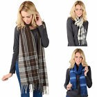 Ladies Soft Woven Check Long Neck Scarf Womens Fashion Stole Harris/ Isla/ Tiree